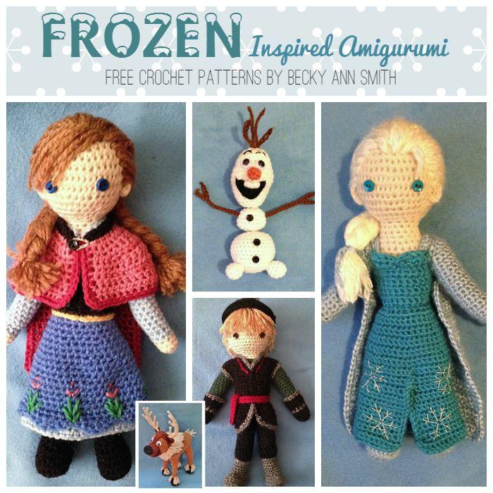 Crochet Frozen Doll Pattern : Disney s Frozen Crochet Roundup of the best FREE patterns ...